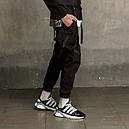 Штаны карго мужские черные бренд ТУР модель Вейдер (Vader), фото 2