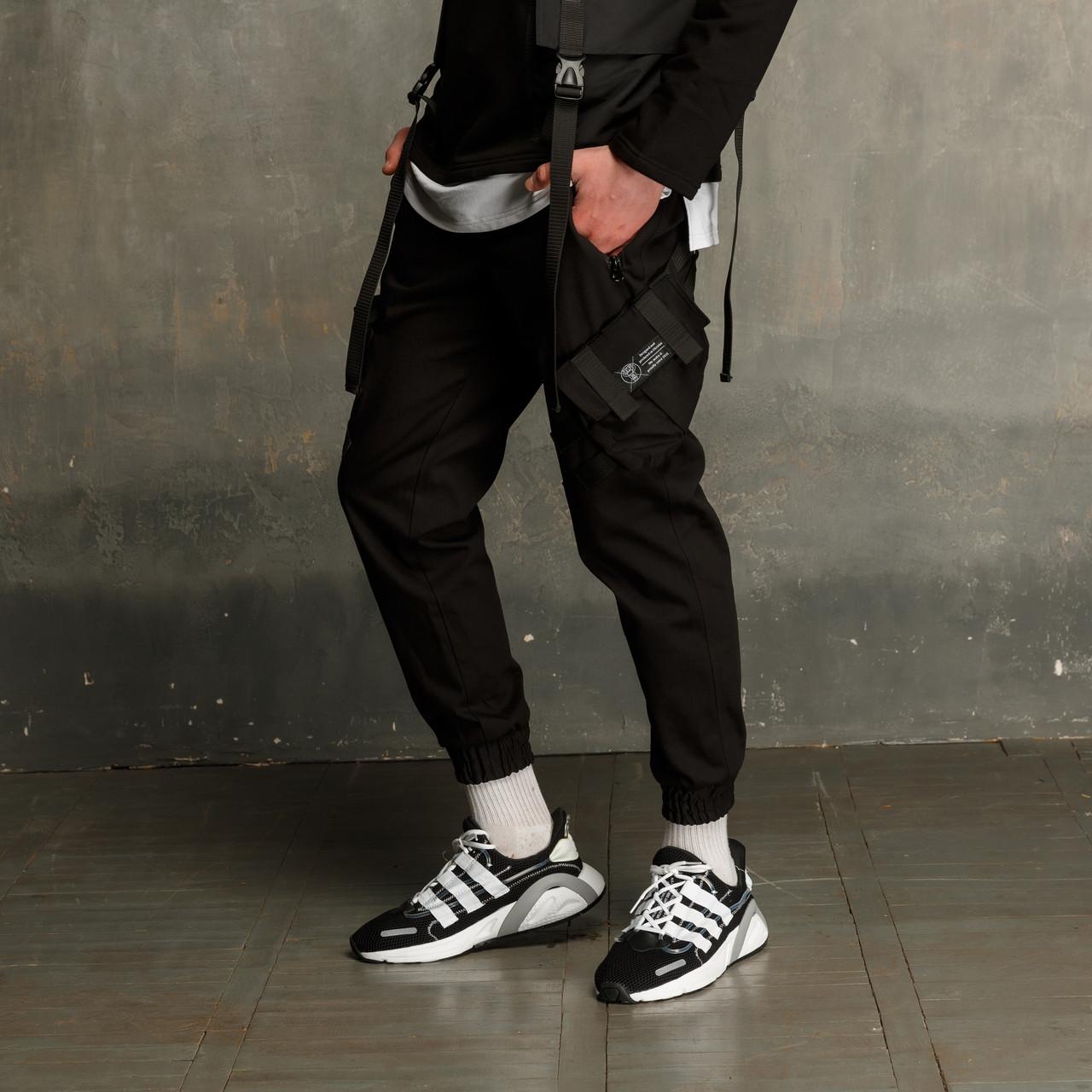 Штаны карго мужские черные бренд ТУР модель Вейдер (Vader)