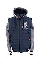 Детская демисезонная куртка для мальчика 32-46 волна
