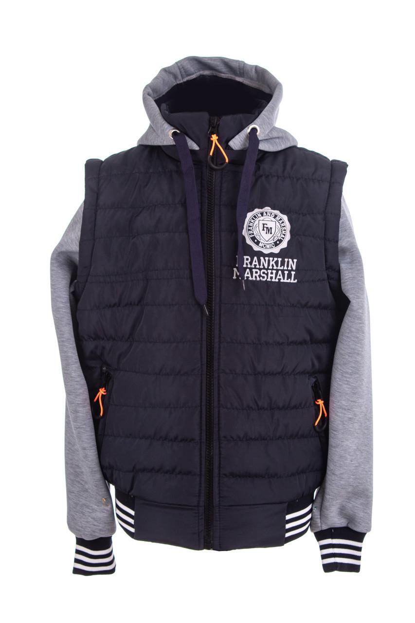 Демисезонная куртка  для мальчика от производителя  32-46 синий