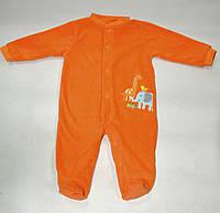 Человечек флисовый оранжевый  Carters