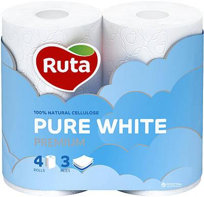 """Папір туалетний """"Ruta""""Pure White 3ш.4рул."""