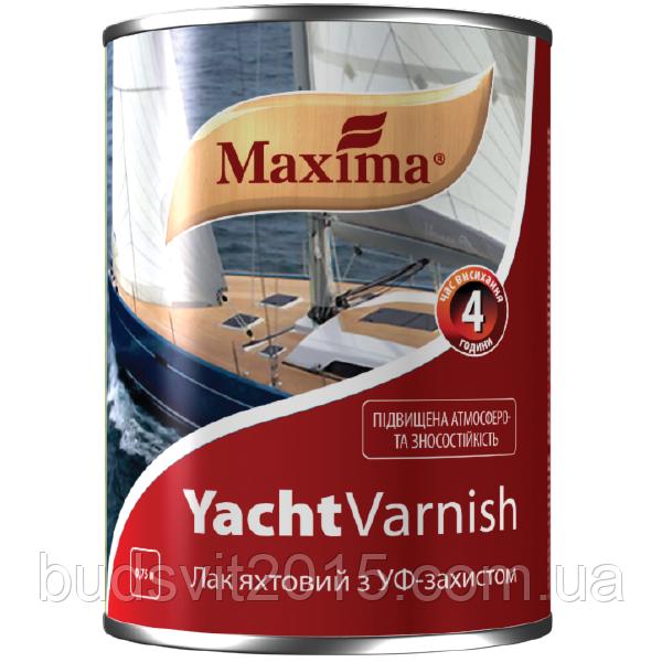 """Лак яхтный алкидно-уретановый  глянцевый ТМ """"MAXIMA"""" - 0,75 л"""