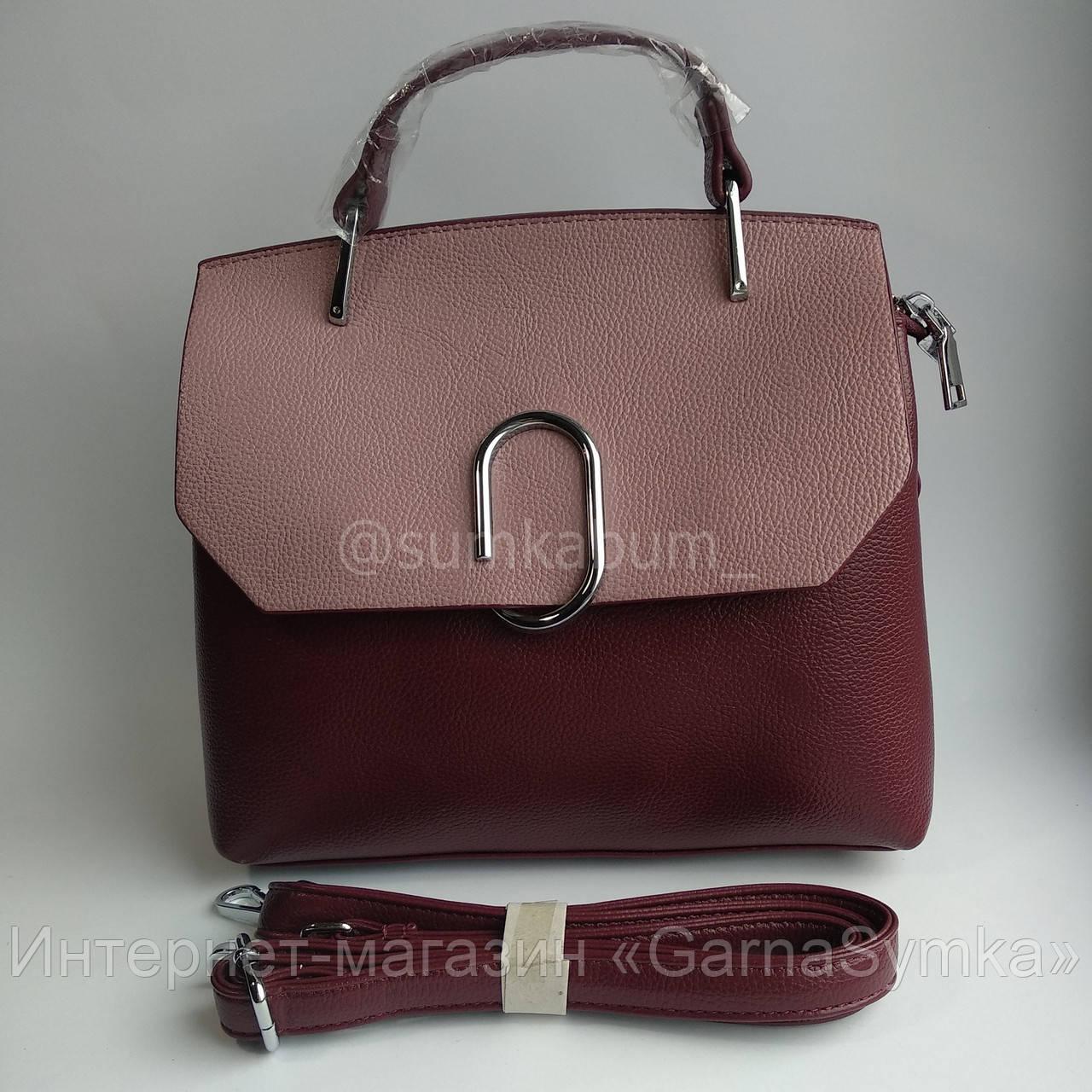 Интересная сумка из натуральной высококачественной кожи