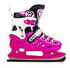 Ледовые коньки Scale Sport, раздвижные, р. 29-33, розовые