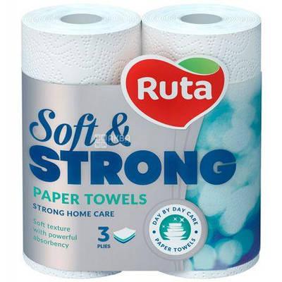 """Рушники паперові""""Ruta""""Soft Strong 3ш.2рул."""