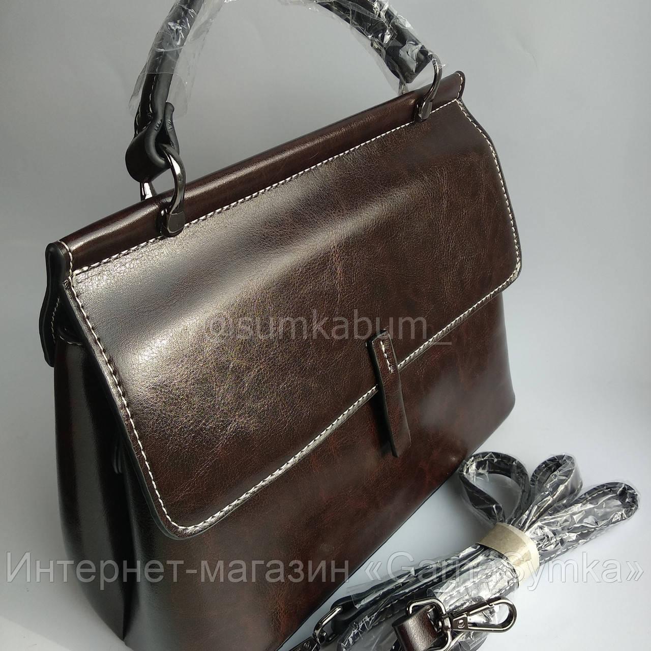 Красивая сумка из натуральной высококачественной воловьей кожи