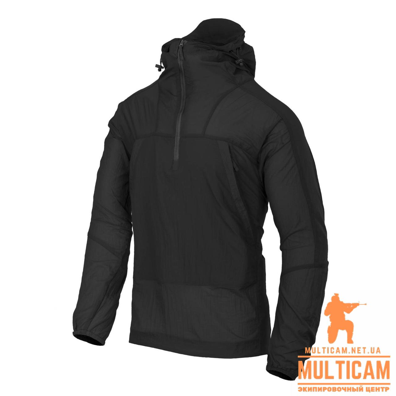 Куртка анорак Helikon-Tex® WINDRUNNER® Windshirt - WindPack® Nylon® - Black