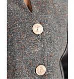 Строгий и милый костюм-двойка с жакетом и юбкой №784-серый, фото 4