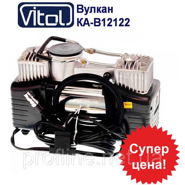 Компрессор автомобильный Вулкан  Vitol КА-В12122 с фонариком