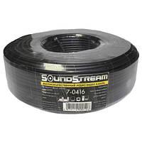 Кабель аудио-видео Sound Stream 3 жилы в экране круглый диаметр-3,5 мм чёрный 100 м