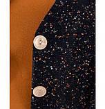 Строгий и милый костюм-двойка с жакетом и юбкой №784-темно-синий, фото 4