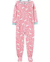 Теплая флисовая пижама на молнии Единороги для девочки подростка