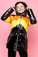 Куртка для девочки демисезонная лаковая