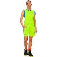 Форма баскетбольная женская, полиэстер, р-р L-2XL-44-50, салатовый (LD-8295W-(lgr))