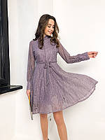 Нарядное кружевное платье с длинным рукавом