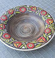 Тарелка суповая с украинским орнаментом