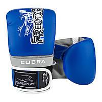 Снарядні рукавички 3038 Синьо-сірі M R143891