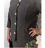 Строгий и милый костюм-двойка с жакетом и юбкой №784СБ-серый, фото 4