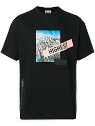 Футболка чёрная Palm Angels Hightest • Палм Анджелс футболка