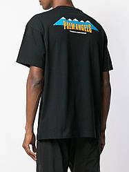 Футболка чёрная Palm Angels Mountain • Палм Анджелс футболка