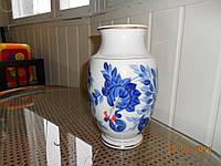 Ваза фарфоровая декоративная с ручной росписью Гжель СССР