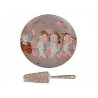 Блюдо для торта с лопаткой Lefard Гапчинская Мы везем с собой кота 924-351, фото 1