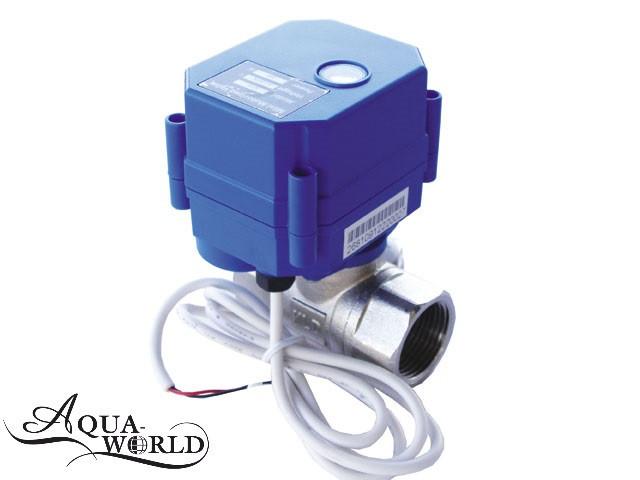"""Кран шаровый с электроприводом 1"""" 220В Aqua-World ВКр801-25"""
