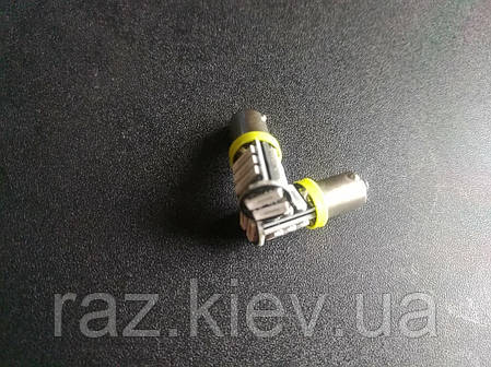 Светодиодная лампа T4W BA9S  (цена за 1 шт) желтый 7020 LED 11 SMD 7014/ 1Вт 12В, фото 2