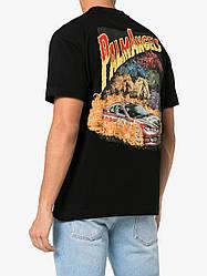 Футболка чёрная Palm Angels car crash • Палм Анджелс футболка