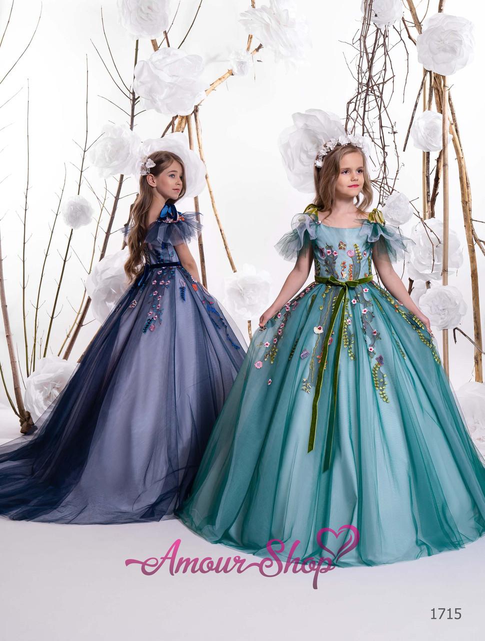 Детское длинное нарядное платье