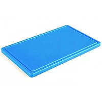 Доска кухонная с канавкой Durplastics 400х300х20 мм голубая 9821AZ4