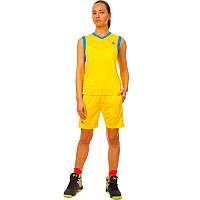 Форма баскетбольная женская, полиэстер, р-р L-2XL-44-50, желтый (LD-8295W-(yl))