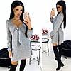 Женское ангоровое платье свободного кроя с красивым декольте С-М, Л-ХЛ, фото 4