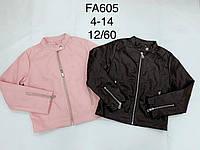 Куртка кожзам для девочек оптом, F&D, 4-14 лет, № FA605