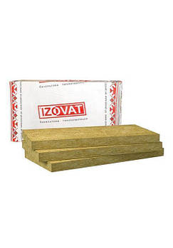 Базальтовый утеплитель IZOVAT 125 Фасад  (1000х 600х100) уп.1,2 м²/0,12 м³