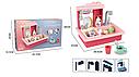 Детская игровая мойка (кухня) с посудой, льется вода BQ688-1-2, 39*36*27 см, цвет синий, фото 2