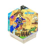 Набор для детского творчества (раскрашивание) 46 предметов, шестиргранник № Pi-46 Пираты