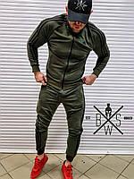 Спортивный костюм мужской в стиле Adidas Originals X Khaki | весенний осенний ЛЮКС