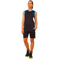 Форма баскетбольная женская, полиэстер, р-р L-2XL-44-50, черный (LD-8295W-(blk))