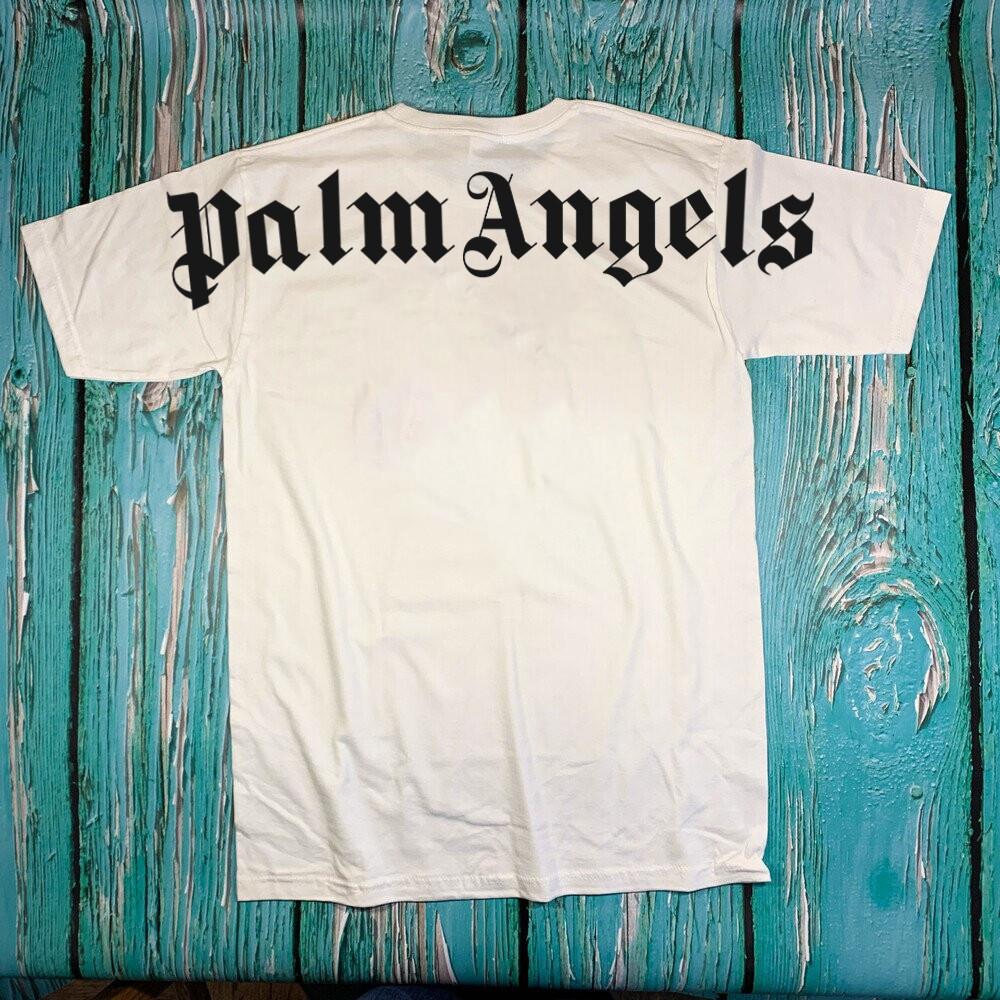 Футболка белая Palm Angels Back • Палм Анджелс футболка