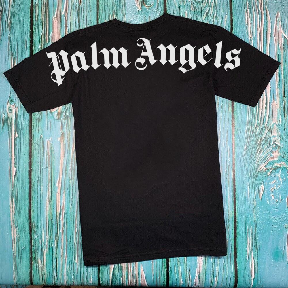 Футболка чёрная Palm Angels Back • Палм Анджелс футболка
