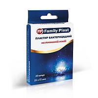 Пластир бактерицидний на тканинній основі FP Family Plast 25х72мм №20