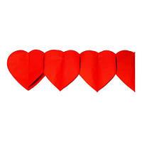 Гирлянда растяжка Сердца 300 см из бумаги