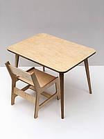 Комплект детского столика  Simple Plywood и стульчика Класик
