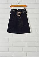 Детская вельветовая юбка 152, Черный