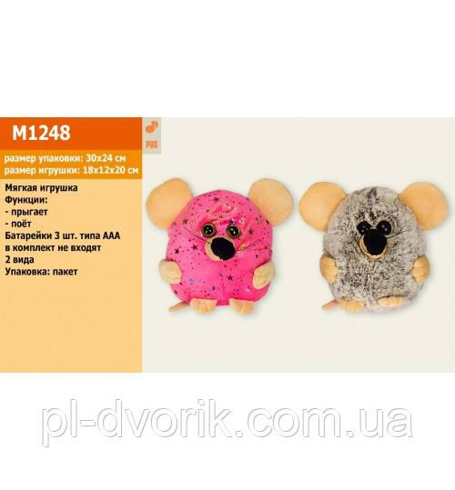 Мягкая Игрушка M1248 ()Муз Мышка, Скачет, Поет Рус Песенку Про Мышку, 2 Вида, В Пакете 18*20см