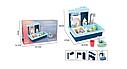Детская игровая мойка (кухня) с посудой, льется вода BQ688-1-2, 39*36*27 см, цвет синий, фото 3