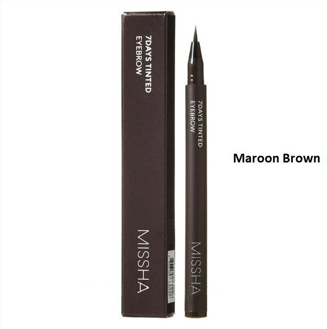 Стойкая подводка для бровей Missha 7Days Tinted Eyebrow Maroon Brown (коричневый)