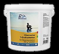 Chemochlor-T-Großtabletten Повільно розчинні висококонцентровані хлорні таблетки.(табл. 200 г) 5 кг